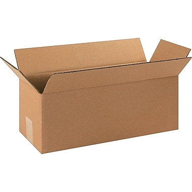 16in.(L) x 6in.(W) x 6in.(H)- Staples Corrugated Shipping Boxes, 25/Bundle