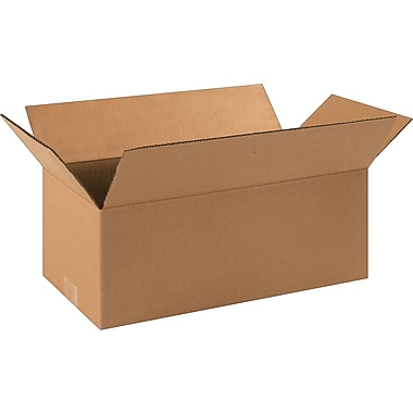 16in.(L) x 8in.(W) x 6in.(H)- Staples Corrugated Shipping Boxes