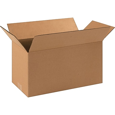 16in.(L) x 8in.(W) x 8in.(H)- Staples Corrugated Shipping Boxes