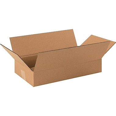 16in.(L) x 9in.(W) x 3in.(H)- Staples Corrugated Shipping Boxes, 25/Bundle