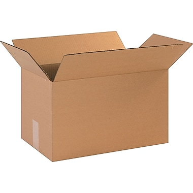 17in.(L) x 10in.(W) x 10in.(H)- Staples Corrugated Shipping Boxes