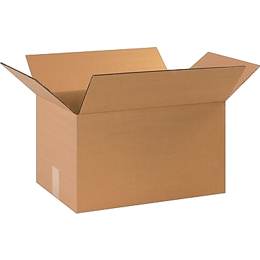 17-1/4in.(L) x 11-1/4in.(W) x 10in.(H)- Staples Corrugated Shipping Boxes, 25/Bundle