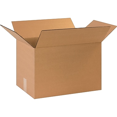 17-1/4in.(L) x 11-1/4in.(W) x 11in.(H)- Staples Corrugated Shipping Boxes, 25/Bundle