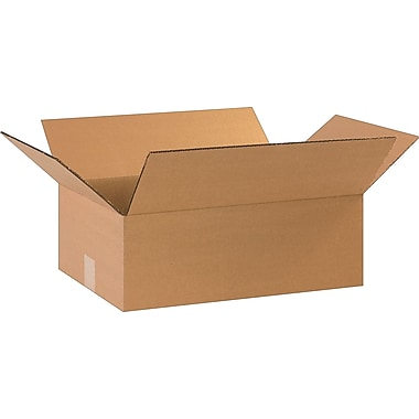 17-1/4in.(L) x 11-1/4in.(W) x 6in.(H)- Staples Corrugated Shipping Boxes