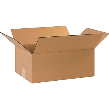 17-1/4in.(L) x 11-1/4in.(W) x 7in.(H)- Staples Corrugated Shipping Boxes, 25/Bundle
