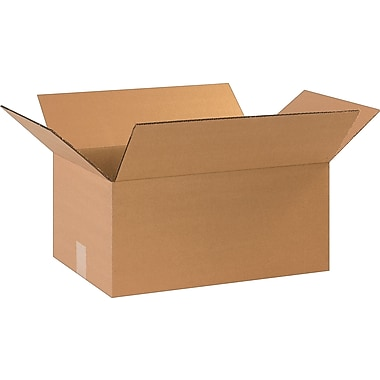 17-1/4in.(L) x 11-1/4in.(W) x 8in.(H)- Staples Corrugated Shipping Boxes, 25/Bundle