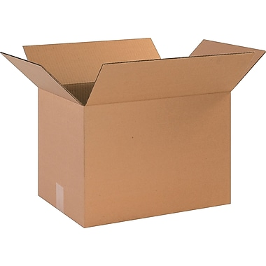 17in.(L) x 12in.(W) x 12in.(H)- Staples Corrugated Shipping Boxes, 25/Bundle