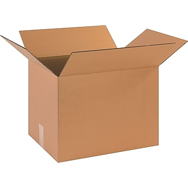 17in.(L) x 13in.(W) x 13in.(H)- Staples Corrugated Shipping Boxes