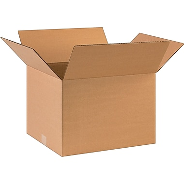 17in.(L) x 14in.(W) x 12in.(H)- Staples Corrugated Shipping Boxes
