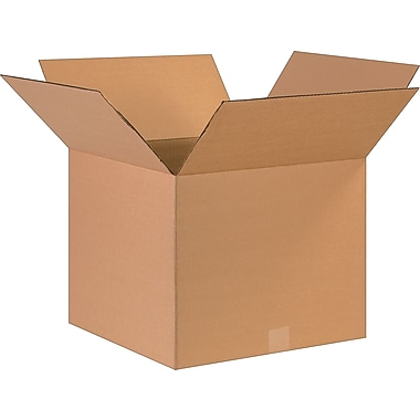 17in.(L) x 17in.(W) x 14in.(H)- Staples Corrugated Shipping Boxes, 25/Bundle