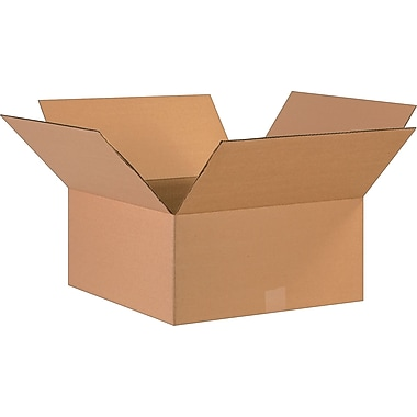 17in.(L) x 17in.(W) x 8in.(H)- Staples Corrugated Shipping Boxes, 20/Bundle