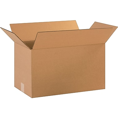 18''x10''x10'' Staples Corrugated Shipping Box, 25/Bundle (181010)
