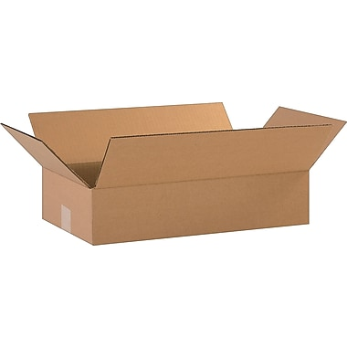 18in.(L) x 10in.(W) x 4in.(H)- Staples Corrugated Shipping Boxes, 25/Bundle