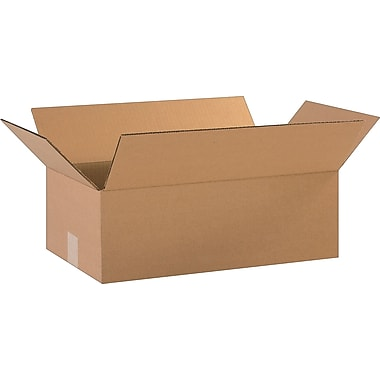 18in.(L) x 10in.(W) x 6in.(H)- Staples Corrugated Shipping Boxes