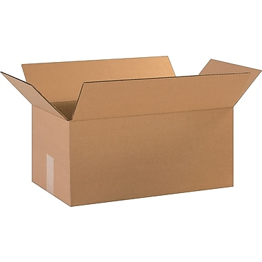 18in.(L) x 10in.(W) x 8in.(H)- Staples Corrugated Shipping Boxes, 25/Bundle