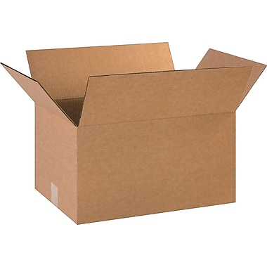 18in.(L) x 12in.(W) x 10in.(H)- Staples Corrugated Shipping Boxes, 25/Bundle