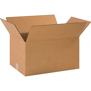 18-1/2in.(L) x 12-1/2in.(W) x 10in.(H)- Staples Corrugated Shipping Boxes, 20/Bundle