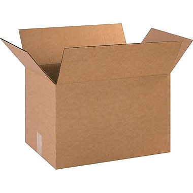 18in.(L) x 12in.(W) x 12in.(H) - Staples Corrugated Shipping Boxes, 25/Bundle