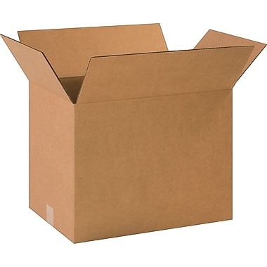18-1/2in.(L) x 12-1/2in.(W) x 14in.(H)- Staples Corrugated Shipping Boxes, 20/Bundle