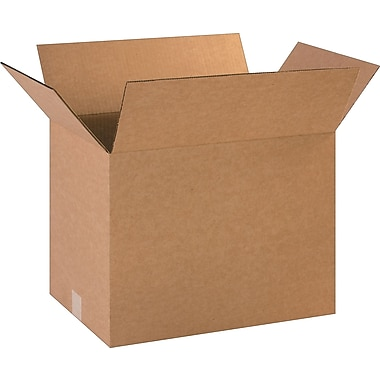 18in.(L) x 12in.(W) x 14in.(H)- Staples Corrugated Shipping Boxes, 25/Bundle