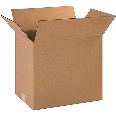 18in.(L) x 12in.(W) x 16in.(H)- Staples Corrugated Shipping Boxes, 25/Bundle