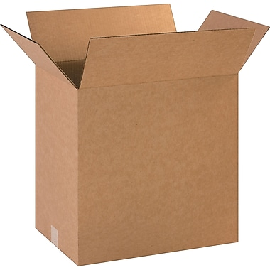 18in.(L) x 12in.(W) x 18in.(H)- Staples Corrugated Shipping Boxes, 25/Bundle