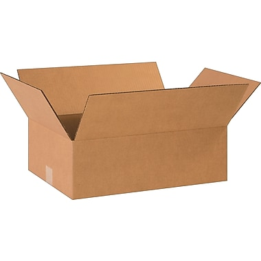 18-1/2in.(L) x 12-1/2in.(W) x 6in.(H)- Staples Corrugated Shipping Boxes, 25/Bundle