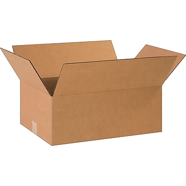 18-1/2in.(L) x 12-1/2in.(W) x 7in.(H)- Staples Corrugated Shipping Boxes, 25/Bundle