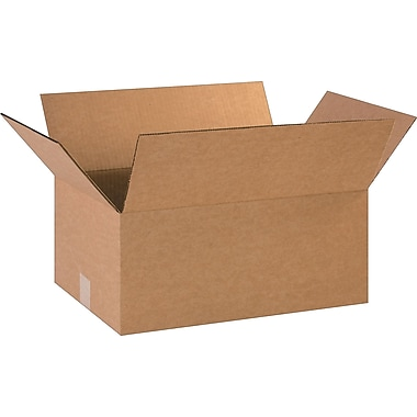 18in.(L) x 12in.(W) x 8in.(H)- Staples Corrugated Shipping Boxes, 25/Bundle