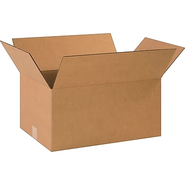 18-1/2in.(L) x 12-1/2in.(W) x 9in.(H)- Staples Corrugated Shipping Boxes, 25/Bundle