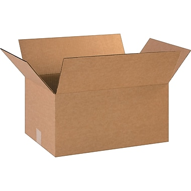 18in.(L) x 12in.(W) x 9in.(H)- Staples Corrugated Shipping Boxes, 25/Bundle