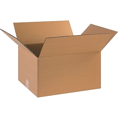 18in.(L) x 14in.(W) x 10in.(H)- Staples Corrugated Shipping Boxes, 25/Bundle