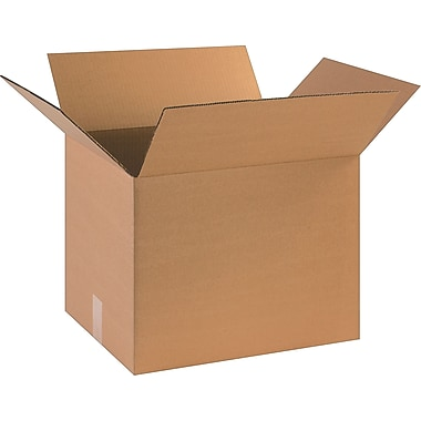 18in.(L) x 14in.(W) x 14in.(H)- Staples Corrugated Shipping Boxes, 20/Bundle
