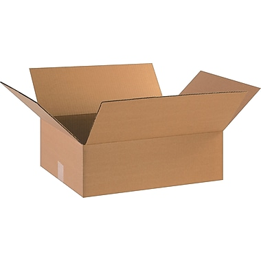 18in.(L) x 14in.(W) x 6in.(H)- Staples Corrugated Shipping Boxes, 25/Bundle