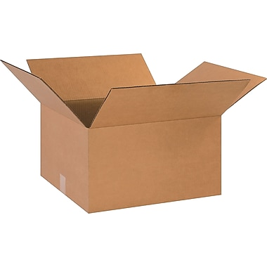 18in.(L) x 16in.(W) x 10in.(H)- Staples Corrugated Shipping Boxes, 20/Bundle