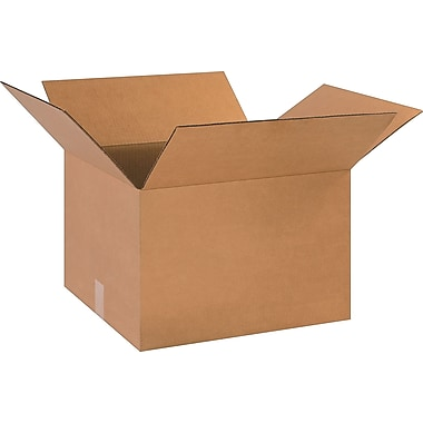 18in.(L) x 16in.(W) x 12in.(H)- Staples Corrugated Shipping Boxes