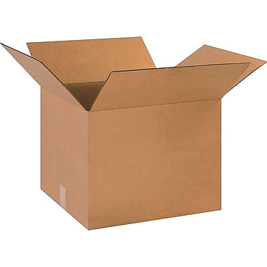 18in.(L) x 16in.(W) x 14in.(H)- Staples Corrugated Shipping Boxes, 25/Bundle