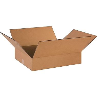 18in.(L) x 16in.(W) x 4in.(H)- Staples Corrugated Shipping Boxes, 25/Bundle