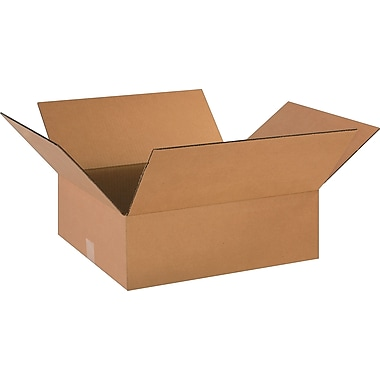 18in.(L) x 16in.(W) x 6in.(H)- Staples Corrugated Shipping Boxes, 25/Bundle