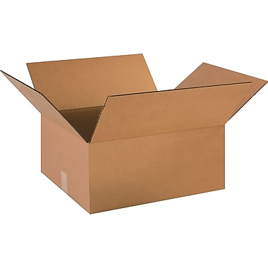18in.(L) x 16in.(W) x 8in.(H)- Staples Corrugated Shipping Boxes, 25/Bundle