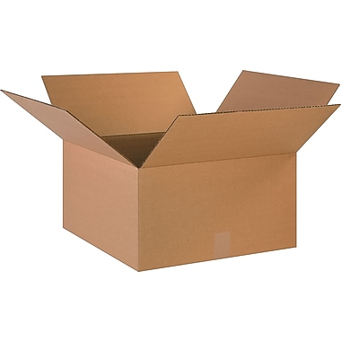 18in.(L) x 18in.(W) x 10in.(H)- Staples Corrugated Shipping Boxes, 20/Bundle