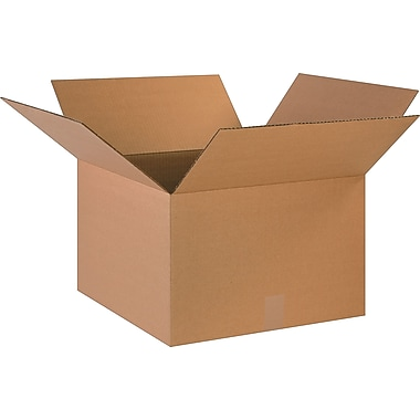 18in.(L) x 18in.(W) x 12in.(H)- Staples Corrugated Shipping Boxes, 20/Bundle