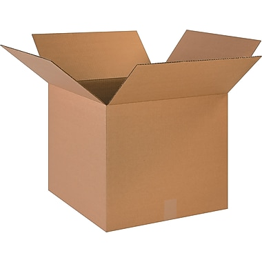 18in.(L) x 12in.(W) x 4in.(H) - Staples® Corrugated Shipping Boxes, 25/Bundle