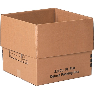 18in.(L) x 18in.(W) x 16in.(H)- Staples Deluxe Moving Boxes, 20/Bundle