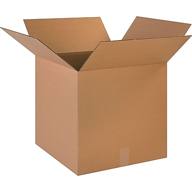 18in.(L) x 18in.(W) x 18in.(H) - Staples Corrugated Shipping Boxes, 20/Bundle