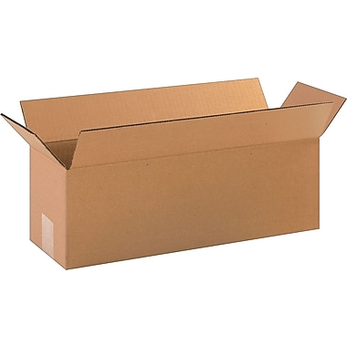 18in.(L) x 6in.(W) x 6in.(H)- Staples Corrugated Shipping Boxes, 25/Bundle