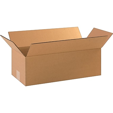 18in.(L) x 8in.(W) x 6in.(H)- Staples Corrugated Shipping Boxes, 25/Bundle