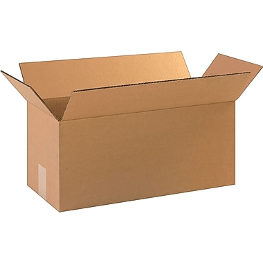 18in.(L) x 8in.(W) x 8in.(H)- Staples Corrugated Shipping Boxes, 25/Bundle