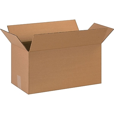 18in.(L) x 9in.(W) x 9in.(H)- Staples Corrugated Shipping Boxes, 25/Bundle