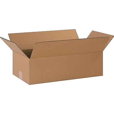 20in.(L) x 10in.(W) x 6in.(H)- Staples Corrugated Shipping Boxes, 25/Bundle